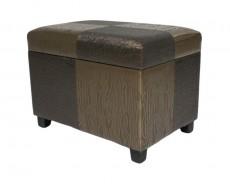 Банкетка с ящиком для хранения 2553L коричнево-золотая