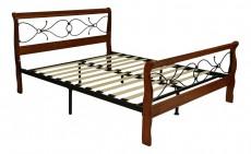 Кровать двуспальная 6132 дуб/черный