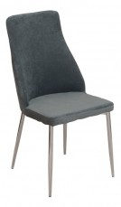 Набор стульев 1728-6 хром/серый (4 шт.)