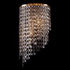 Накладной светильник 3102/2 золото/прозрачный хрусталь Strotskis