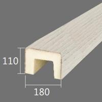 Архитектурный брус Cosca, 180x110x2000, белое дерево