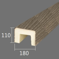 Архитектурный брус Cosca, 180x110x4000, оливковое