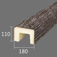Архитектурный брус Cosca, 180x110x4000, серый кипарис