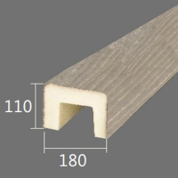Архитектурный брус Cosca, 180x110x2000, шелковое дерево
