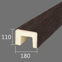 Архитектурный брус Cosca, 180x110x4000, темная секвойя