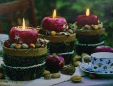 Панно световое (40х30 см) Красные свечи 26974