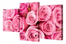 Набор из 3 панно (78х50 см) Цветы BT XH-204