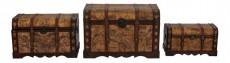 Набор сундуков 2580 коричневый с рисунком