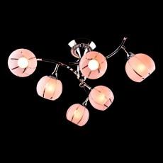Люстра на штанге 3353/6 хром/розовый
