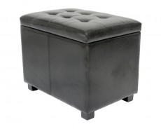 Банкетка с ящиком для хранения 2550S черная