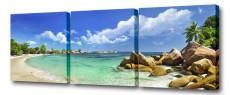 Набор из 3 панно (150х50 см) Тропический пляж S-4118H