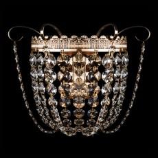Накладной светильник 3109/1 золото/прозрачный хрусталь Strotskis
