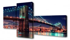 Набор из 3 панно (200х100 см) Мост S-4133H