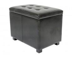 Банкетка с ящиком для хранения 2550L черная