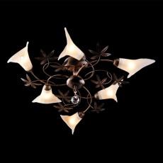 Люстра на штанге 9606/6 черный с золотом