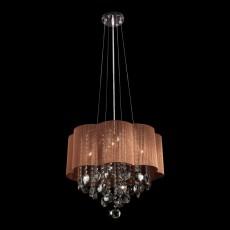 Подвесной светильник 3255/5 хром/тонированный хрусталь Strotskis