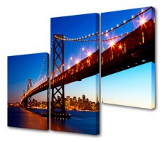 Набор из 3 панно (150х100 см) Мост S-4075H