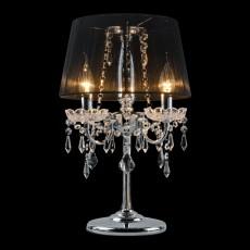 Настольная лампа декоративная 2045/3T хром/черный