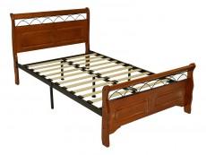 Кровать полутораспальная 6137 дуб/черный