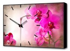 Настенные часы (60х37 см) Орхидеи BL-2205
