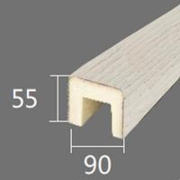 Архитектурный брус Cosca, 90x55x2000, белое дерево