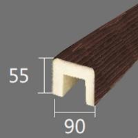 Архитектурный брус Cosca, 90x55x4000, красный сандал