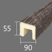 Архитектурный брус Cosca, 90x55x4000, серый кипарис