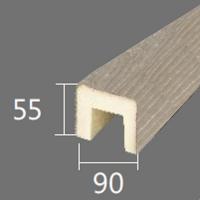 Архитектурный брус Cosca, 90x55x4000, шелковое дерево