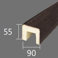 Архитектурный брус Cosca, 90x55x2000, темная секвойя