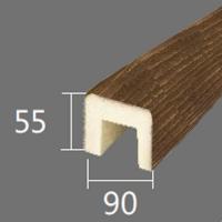 Архитектурный брус Cosca, 90x55x4000, южный дуб