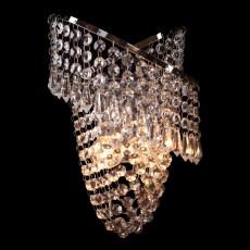 Накладной светильник 3103/2 хром/прозрачный хрусталь Strotskis