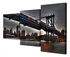 Набор из 3 панно (78х50 см) Мост XT-003