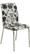 Набор стульев 1720 белый с черным рисунком (4 шт.)