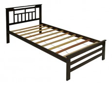 Кровать односпальная 6162Т капучино