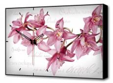 Настенные часы (60х37 см) Цветы BL-2203