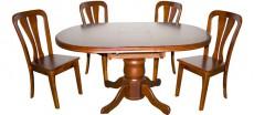 Стол обеденный 2411DC вишня темная