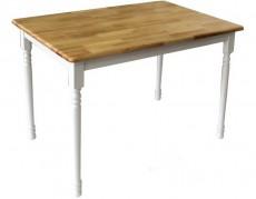 Стол обеденный 3685 белый/натуральный