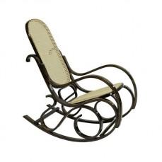 Кресло-качалка 1807 дуб темный/бежевый