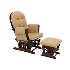 Кресло-качалка с пуфом 1806/1803 вишня/бежевый