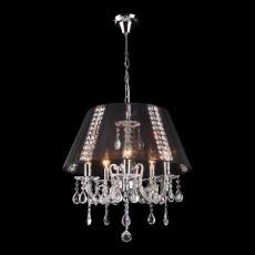 Подвесной светильник 3419/5 хром/черный Strotskis
