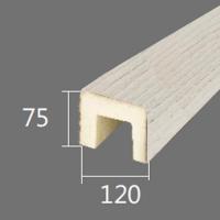 Архитектурный брус Cosca, 120x75x4000, белое дерево