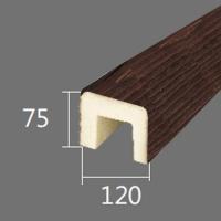 Архитектурный брус Cosca, 120x75x4000, красный сандал