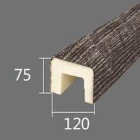 Архитектурный брус Cosca, 120x75x4000, серый кипарис