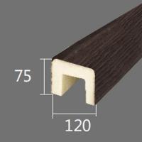 Архитектурный брус Cosca, 120x75x2000, темная секвойя