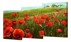 Набор из 3 панно (150х70 см) Цветы BT S-4140H