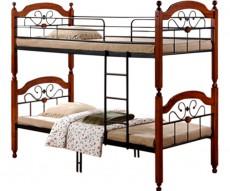 Кровать двухъярусная 6144 дуб темный/черный