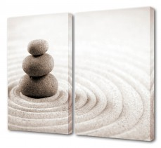 Набор из 2 панно  (100х75 см) Загадочные камни S-4112H