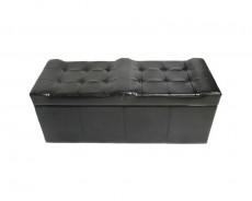 Банкетка с ящиком для хранения 2551L черная