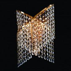 Накладной светильник 3105/3 золото/прозрачный хрусталь Strotskis