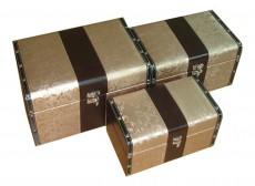 Набор сундуков 2566L/2566M/2566S бежевый/коричневый